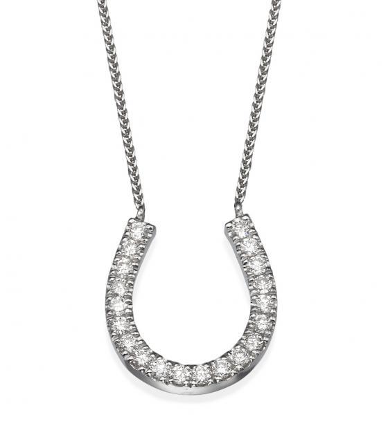 hoof diamond pendant